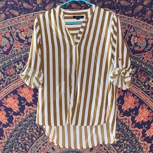 long sleeve rolled up blouse